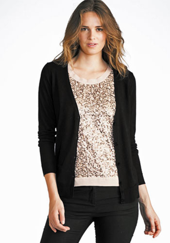 Beat the Chill With An Attractive Black Cardigan